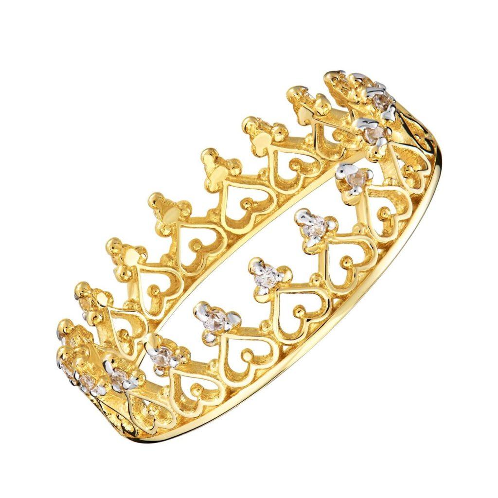 złoty pierścionek 585